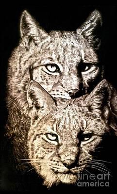 Pyrography - Lynx'ed For Life by Adam Owen
