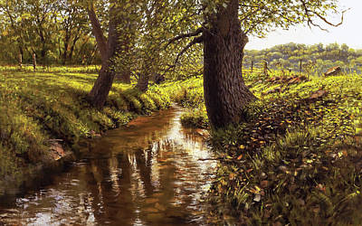 Painting - Lyon Valley Creek by Mark Mille