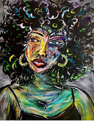 Woman Painting - Lyric by Allison's Gallery