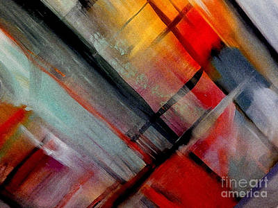 Lyrical Brushstroke Art Print by Lisa Kaiser