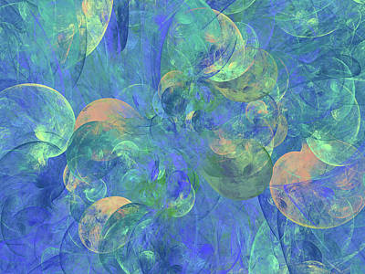Digital Art - Lyrical Nature Abstract by Georgiana Romanovna