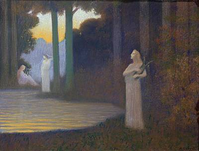 Surrealist Painting - Lyricism In The Forest by Alphonse Osbert