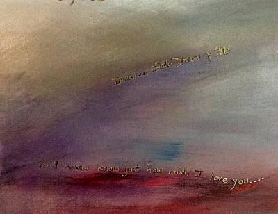 Lyrics At Sunset Art Print