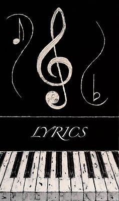 Lyrics Art Print by Wayne Cantrell