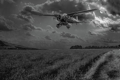 Photograph - Lysander On Secret Operation Bw Version by Gary Eason