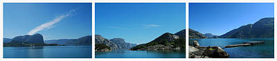 Photograph - Lysefjord Triptych. by Terence Davis