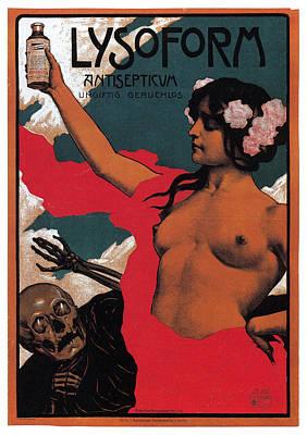 Mixed Media - Lysoform - Antisepticum - Vintage Advertising Poster by Studio Grafiikka