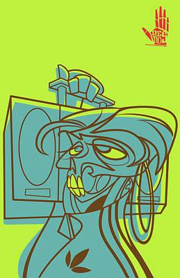 Street Art Digital Art - Lyte Skeleto by Nelson Garcia