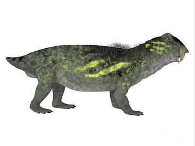 Triassic Digital Art - Lytrosaurus Side Profile by Corey Ford