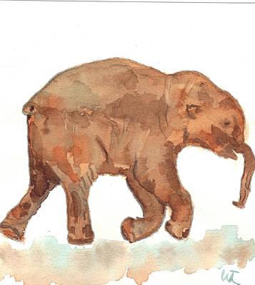 Lyuba The Ice Baby Mammoth  Art Print