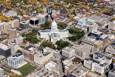 Photograph - M-004 Madison Wisconsin Capitol by Bill Lang