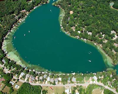 Photograph - M-005 Mccrossen Lake Chain O Lake Waupaca by Bill Lang