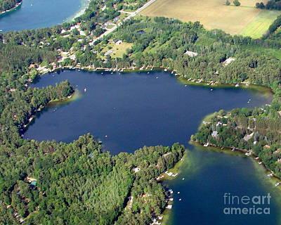 Photograph - M-008 Miner Lake Chain O Lake Waupaca by Bill Lang