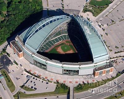 Photograph - M-028 Miller Park Milwaukee Wisconsin by Bill Lang
