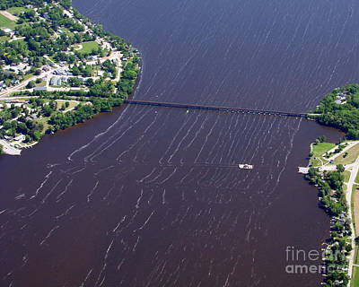 Photograph - M-031 Merrimac Ferry To South Lake Wisconsin by Bill Lang