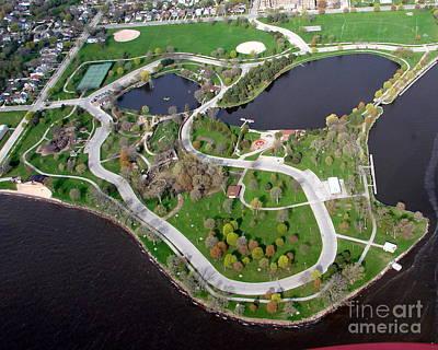 Photograph - M-033 Menomonie Park Lagoons Oshkosh Wisconsin by Bill Lang