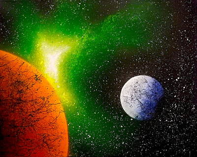 The Universe Painting - M-33 by Drew Goehring