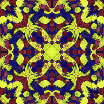 Digital Art - M A R -month- -pattern- by Coded Images
