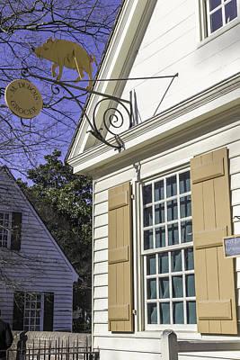 Razorback Photograph - M Dubois Grocer Colonial Williamsburg Virginia by Teresa Mucha