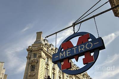 M For Metro  Art Print