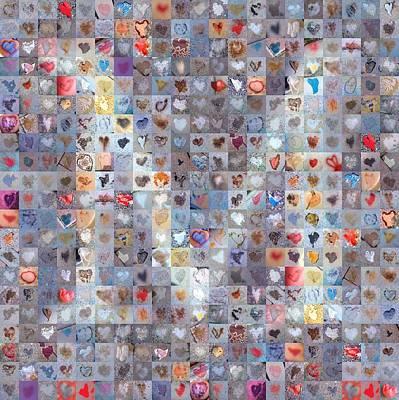 Digital Art - M In Confetti by Boy Sees Hearts