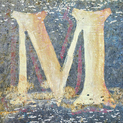 Mixed Media - M Is For Monet by Carol Leigh