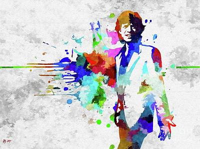 Mixed Media - M. Jagger  by Daniel Janda