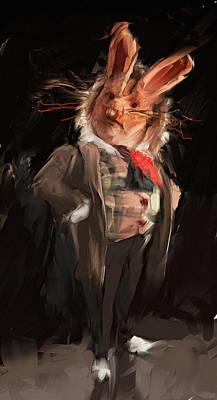 Alice In Wonderland Digital Art - M. Lapin by H James Hoff