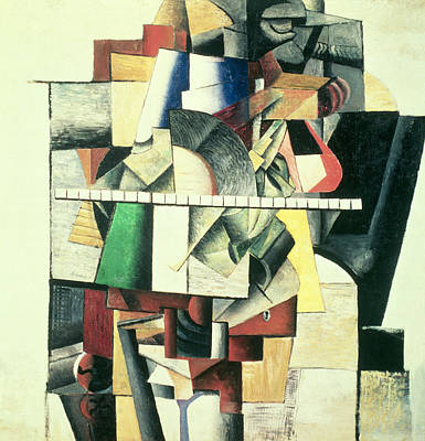 Cubist Painting - M Matuischin by Kazimir Severinovich Malevich