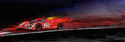 Digital Art - M Mcfly Racing by Alan Greene