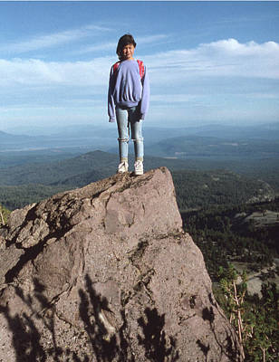 Photograph - M-n6135 Daughter Age 11 At Lassen Peak by Ed Cooper Photography