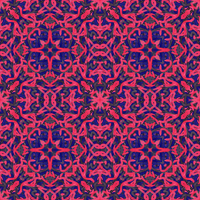 Digital Art - M O N -day- -multi-pattern- by Coded Images