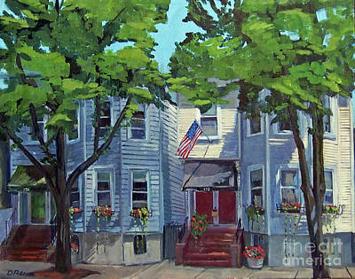 Southie Painting - M St Afternoon by Deb Putnam