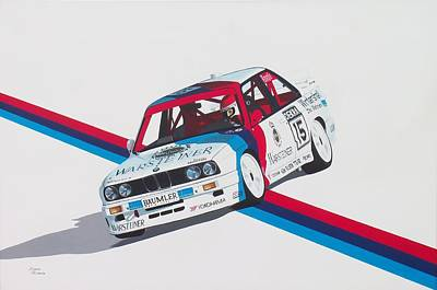 Racing Car Painting - M To The Power Of 3 by Kieran Roberts