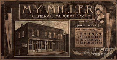Photograph - M Y Miller Shipshewana by David Arment