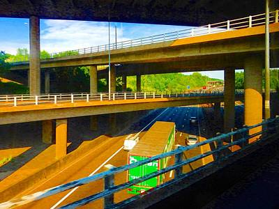 Photograph - M25 Convergence by Dorothy Berry-Lound