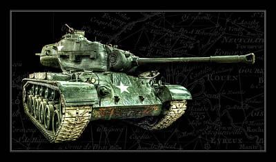 Photograph - M26 Pershing Tank Bk Bg by Weston Westmoreland