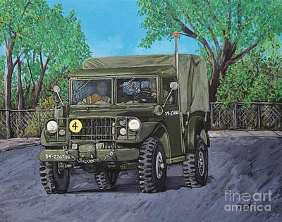 Painting - M37 Truck 3bam by Reb Frost
