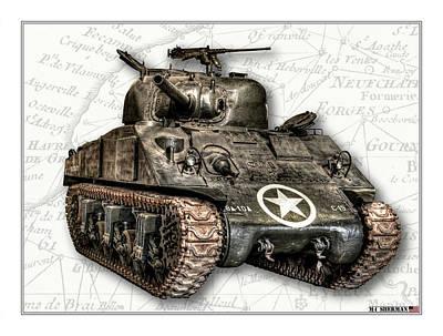 Photograph -  M4 Sherman Tank by Weston Westmoreland