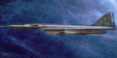 Painting - M50 Myasishchev  by Michael Cleere