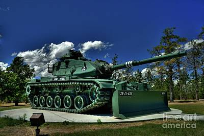 Photograph - M60 Tank by Tony Baca
