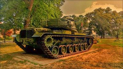 M60a3 Tank Photograph - M60a3 Main Battle Tank by Shelley Smith