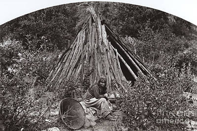 Photograph - Ma Ha La Yosemite Indian George Fiske Photo Circa 1885 by California Views Archives Mr Pat Hathaway Archives