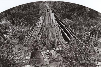 Photograph - Ma Ha La Yosemite Indian George Fiske Photo Circa 1885 by California Views Mr Pat Hathaway Archives