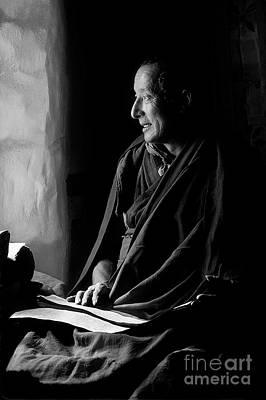 Photograph - ma Shee Lama of Sera Gompa - Tibet by Craig Lovell