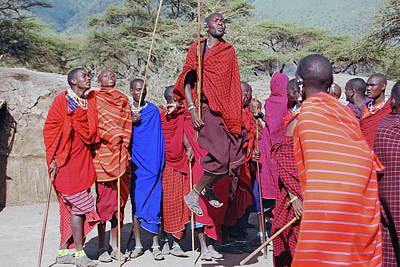 Photograph - Maasai Adumu Dance Take Three by Harvey Barrison