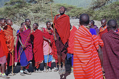 Photograph - Maasai Adumu Dance Take Two by Harvey Barrison