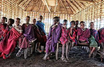 Photograph - Maasai Children In Ngorongoro Tanzania by Amyn Nasser