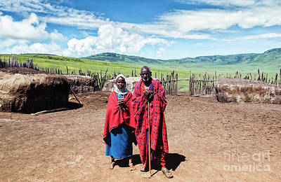Photograph - Maasai Father And Daughter by Amyn Nasser