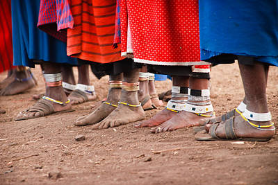 Person Photograph - Maasai Feet by Adam Romanowicz